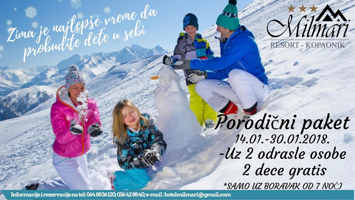 zima porodicni paket milmari resort
