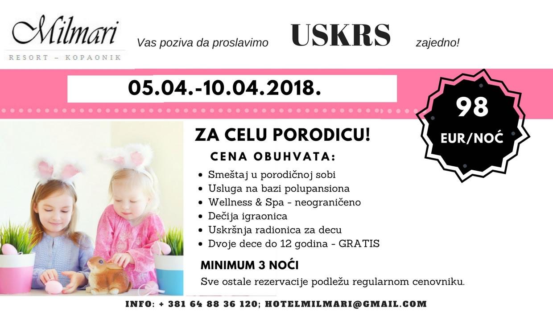 Milmari resort Kopaonik - Uskrs 2018