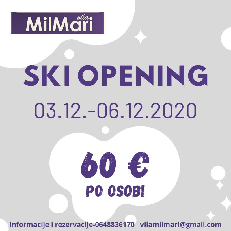 ski opening vila milmari kopaonik